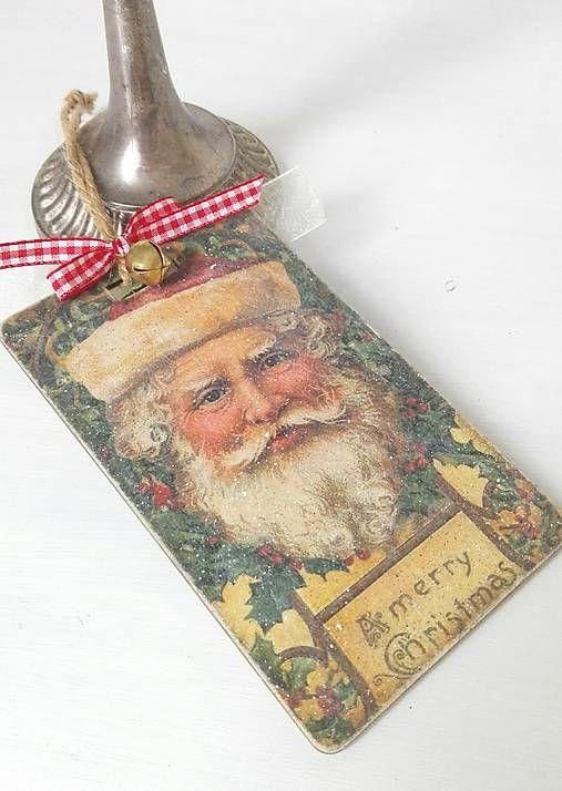 tinuszDecorArt / Vianočný vintage štítok