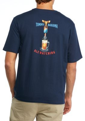 Tommy Bahama Men's Ale Watching Graphic Tee - Navy - 2Xl
