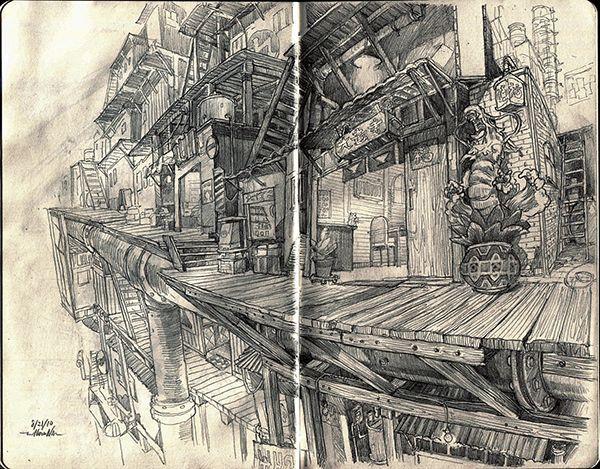 moleskine sketch by William Niu