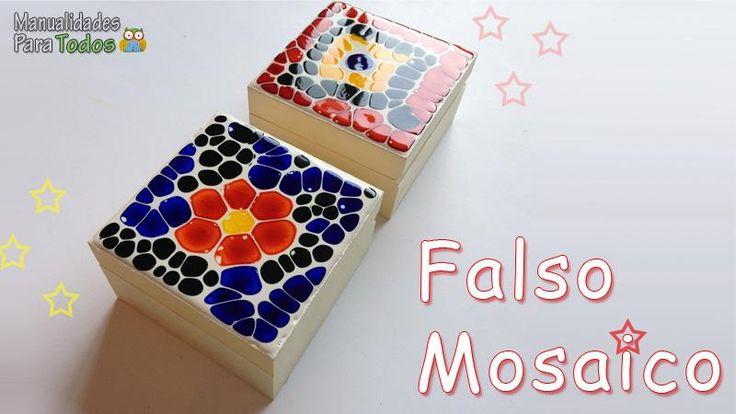 Veamos cómo emplear la pintura de vidrio para conseguir un falso efecto mosaico.