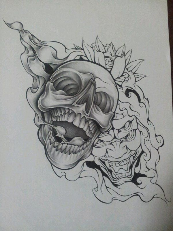 WiP Skull Demon Design 2 by MagnaSicParvis on DeviantArt