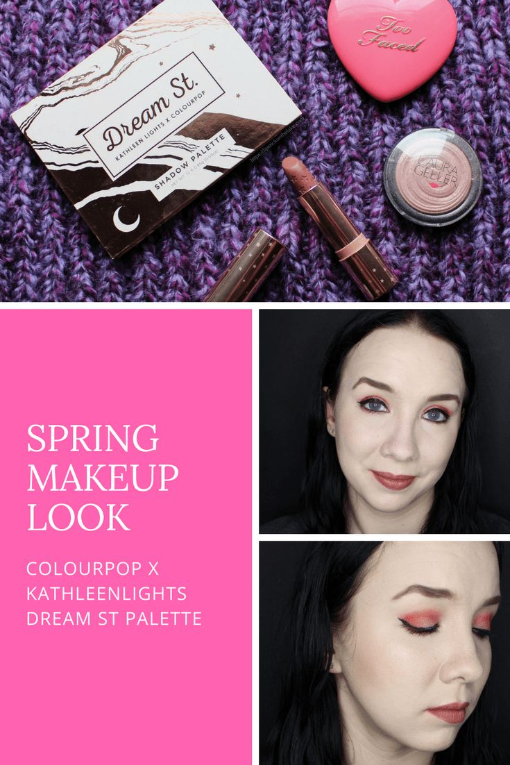 Spring Makeup Look - Colourpop x Kathleenlights Dream St Palette