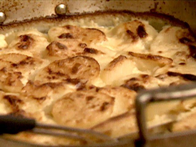 Creamy Potato Gratin recipe from Nigella Lawson via Food Network
