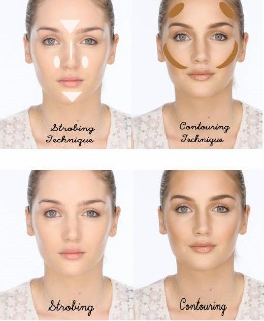 Highlighting and Contouring VS Strobing: Before and After. What is the difference between Strobing, Highlighting and Contouring?
