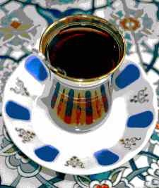 Turkish tea, offered to you where ever you go.