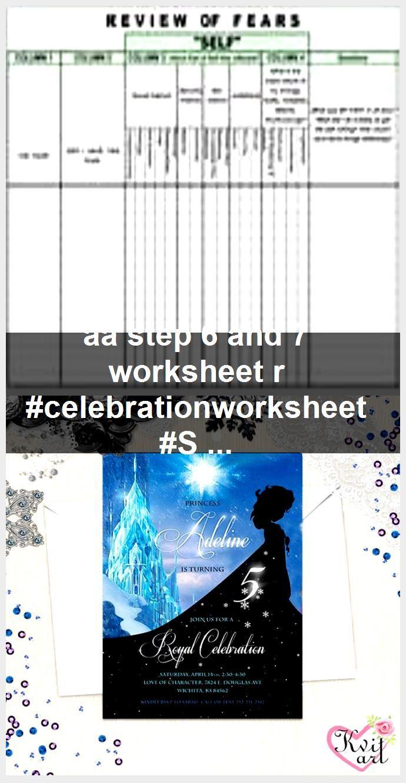Aa Step 6 And 7 Worksheet R Celebrationworksheet Step Worksheet
