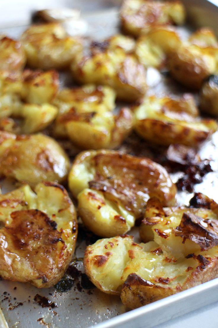 Crispy geplette aardappeltjes uit de oven