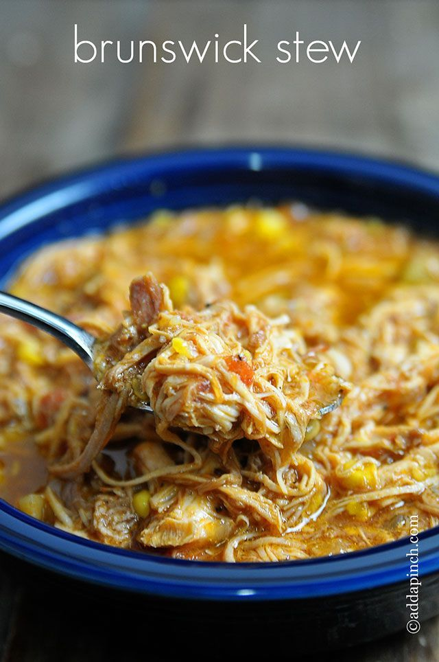 Brunswick Stew Recipe - Barbeques and this stew just go together! And spring and summer is the perfect time to make this for those gatherings and casual picnics! // addapinch.com