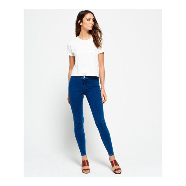 Superdry Evie Jegging Jeans (£40) ❤ liked on Polyvore featuring plus size womens fashion, plus size clothing, plus size jeans, blue, superdry jeans, white skinny leg jeans, button-fly jeans, white jeggings and white super skinny jeans Clothing, Shoes & Jewelry - Women - Clothing - jeans women plus size - http://amzn.to/2kJLxY4