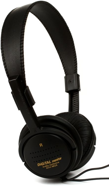 Open-back Headphones with Leatherette Earpads, Adjustable Headband, 20Hz-20kHz Frequency Response, 11.5' Cable, and 1/8'-1/4' Adapter