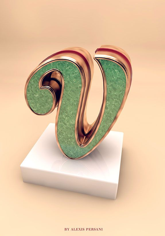 Creative Alphabet 3D Typography Inspiration by Alexis Persani