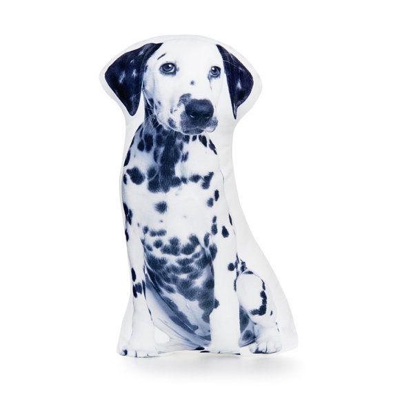 Dalmatian  Black and White Pillow Black And White Cushion