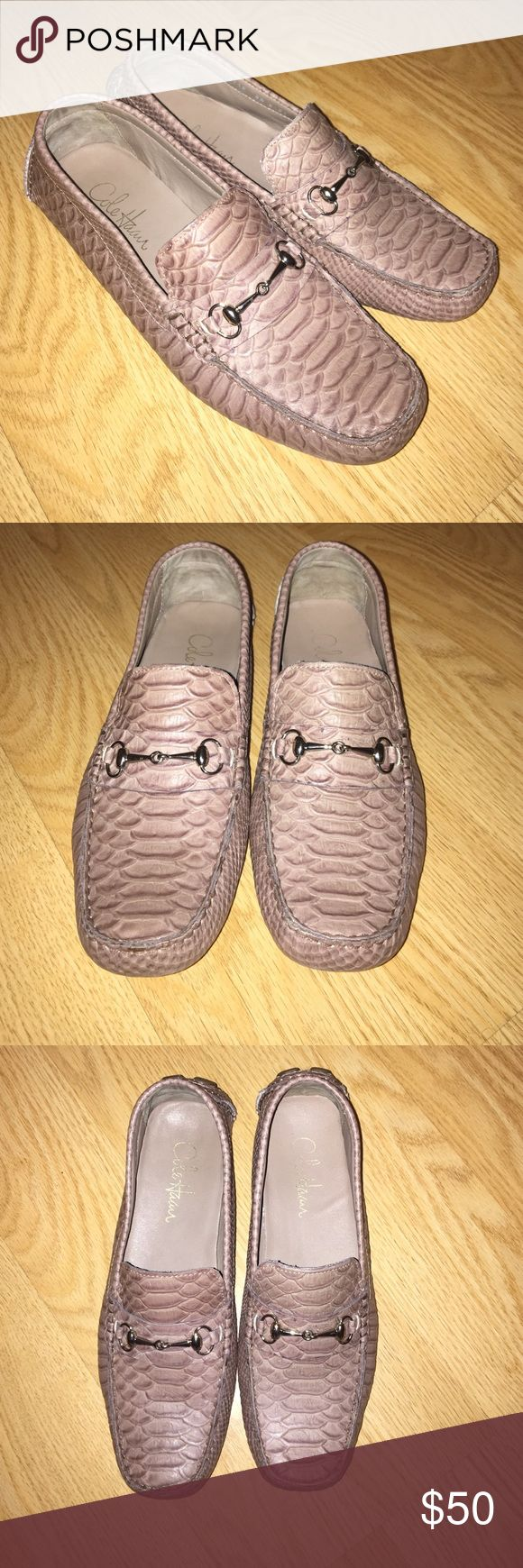 Cole Haan Driving Loafers **Like new** Cole Haan driving loafers. Nude snakeskin with silver hardware. VERY COMFORTABLE!! Cole Haan Shoes Flats & Loafers