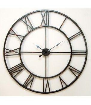 Zegar metalowy vintage 100 cm - wyjątkowa dekoracja na ścianę