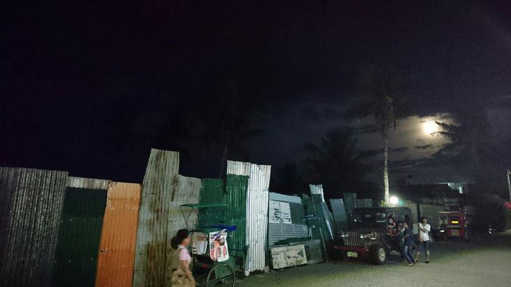 Tacloban in the moonlight