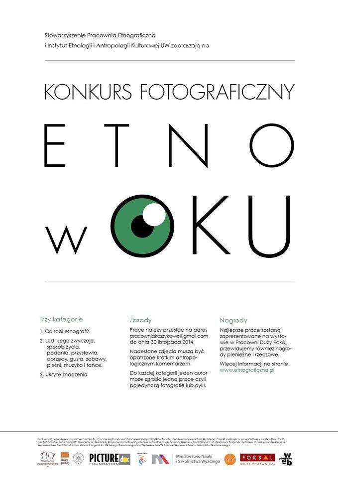 ETNO w OKU - zgłaszanie prac do 30 listopada 2014 r.
