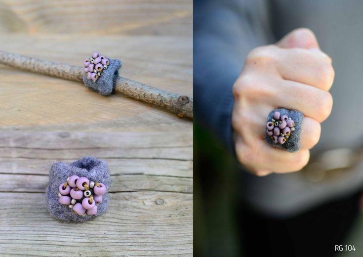 Bekijk hier de ringen van vilt… | Ringen Galerie