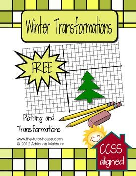 In this freebie, students will plot points on a graph and then do 3 different types transformations (dilation, rotation, reflection).  Aligned with Common Core Standards 8.G.3