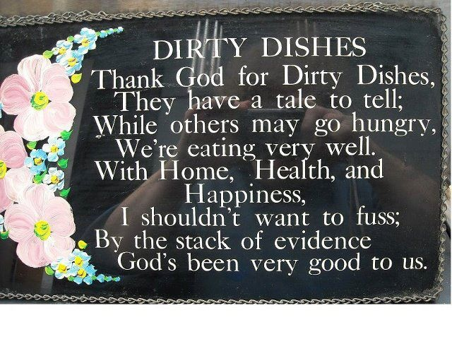 dirty dishes poem more funnies sayings quotes