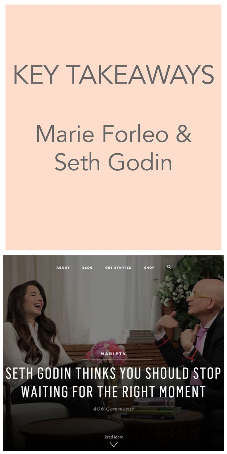 Want to overcome doubt and be more successful? Here's how - key takeaways from Marie Forleo and Seth Godin. Click through to see their interview and read the best bits.