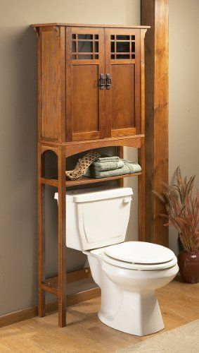holly martin connor spacesaver in mission oak southern - Bathroom Cabinets That Fit Over The Toilet