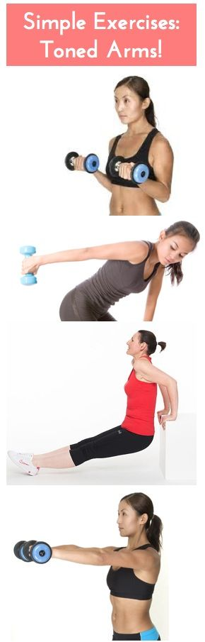 Simple exercises to get more toned arms