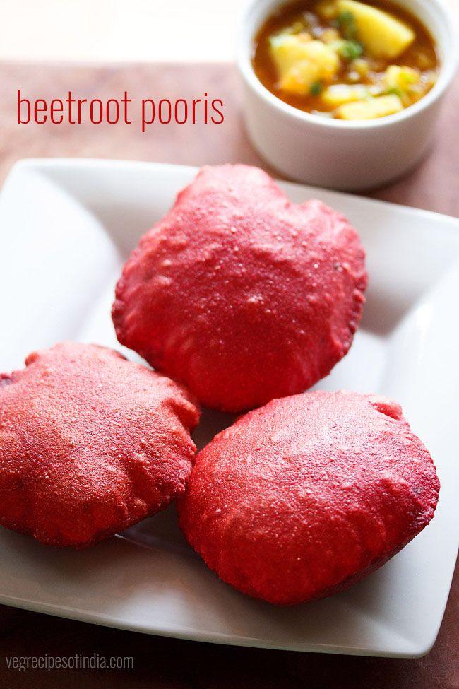 beetroot poori recipe, how to make beetroot poori | beetroot puri recipe