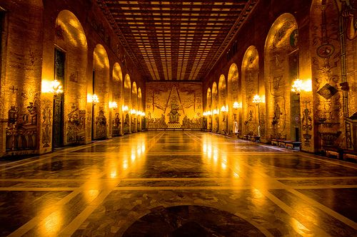 Gold by IzaD™, via Flickr    The Golden Hall - Stockholm's City Hall