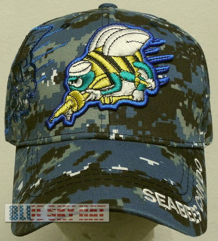 CAMO U.S. NAVY USN NAVAL SEABEES CAN DO CONSTRUCTION BATTALION CB TEAM CAP HAT #PREMIUMHATS #BaseballCap