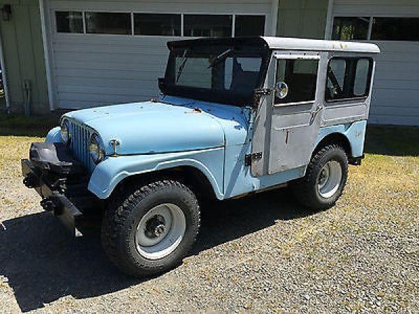 Willys: CJ 1956 willys jeep cj 5 4 x 4 ford v 8 metal hard top