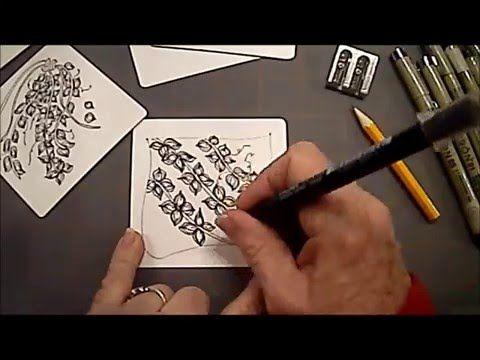 How to Draw Tangle Pattern Sprigs by Michele Beauchamp Video by Melinda Barlow CZT