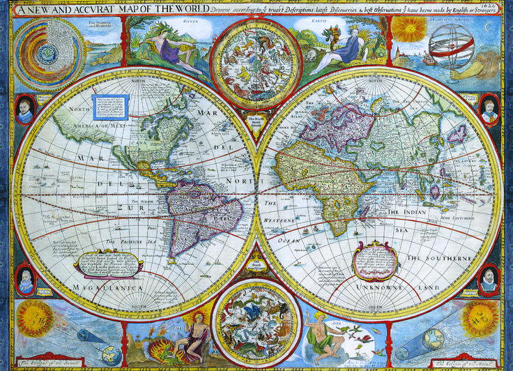 EuroGraphics Map of the Ancient World 1000-Piece Puzzle. This beautiful antique map is very decorative and features an antique world map.