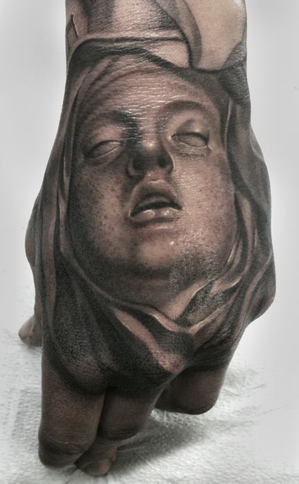 Ecstasy of Saint Teresa hand tattoo by James Spencer Briggs