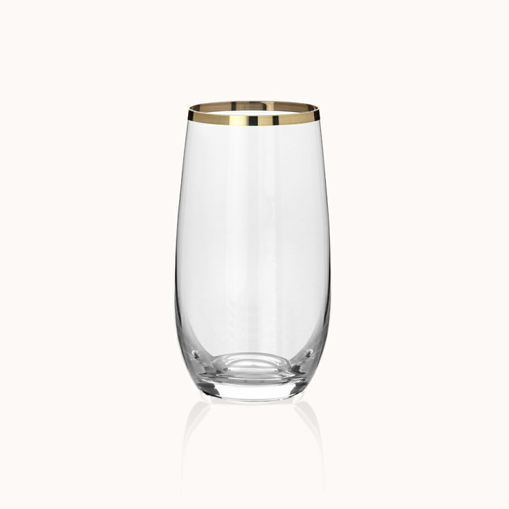 Gourmet Gold Meşrubat Bardağı / Soft Drink Glass #bernardo #tabledesign