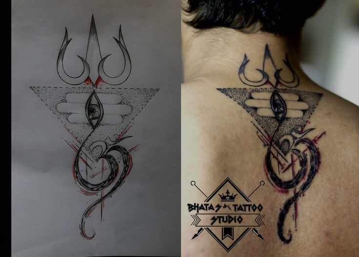 Concept lord shiva & trishul tattoo... For further details Contact : Nishaan  09867935000