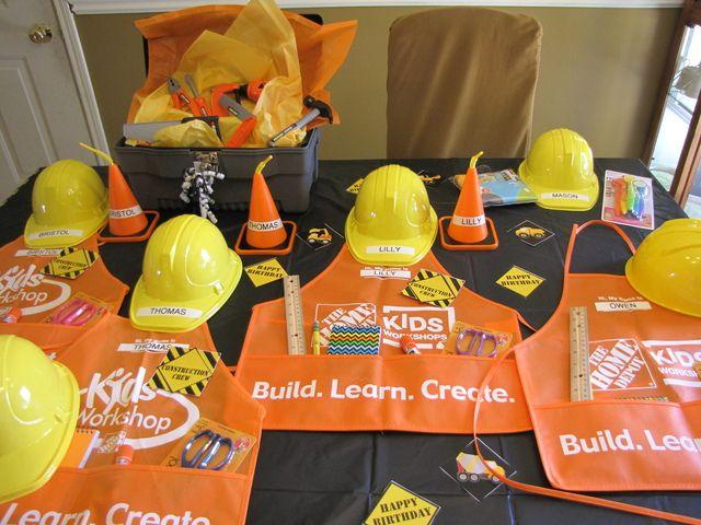 Favors at a Construction Party #construction #partyfavors