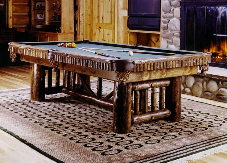 Billiard, shuffleboard, foosball, air hockey, poker and game tables. Rustic pool cue racks,game table chairs, pub tables, bar stools, accessories.