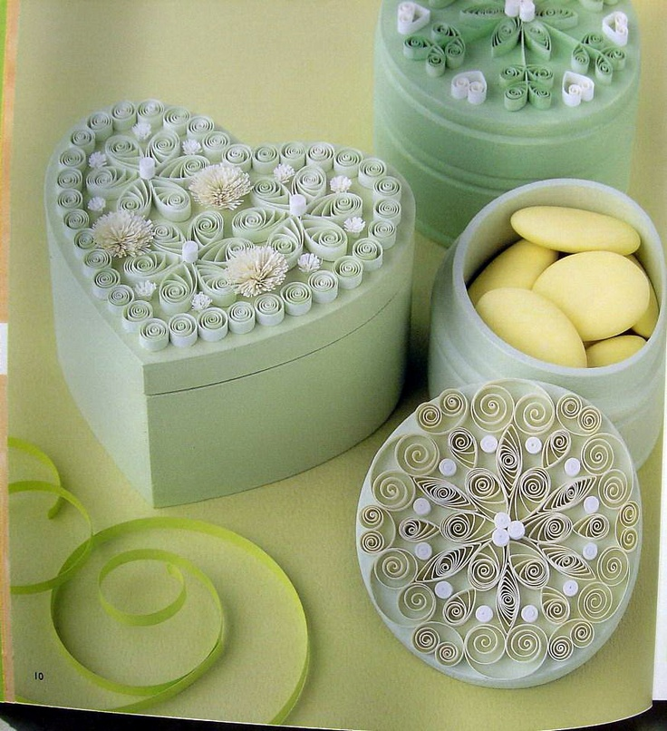 Quilling on boxes