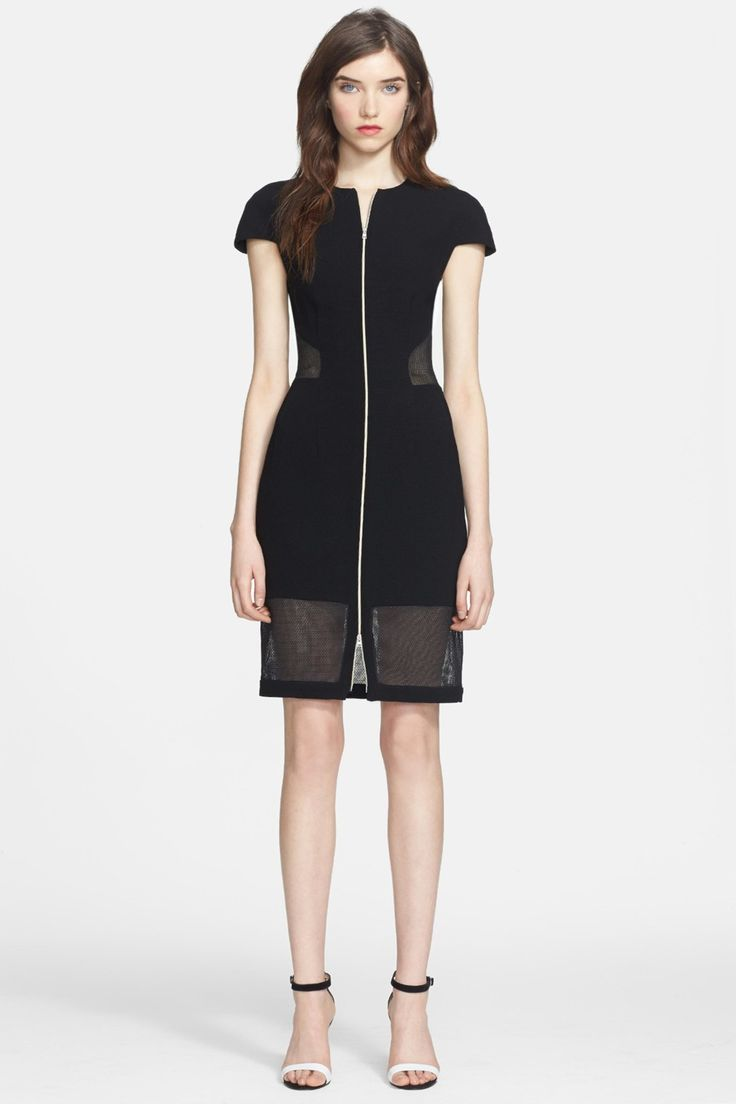 L agence long black dress red