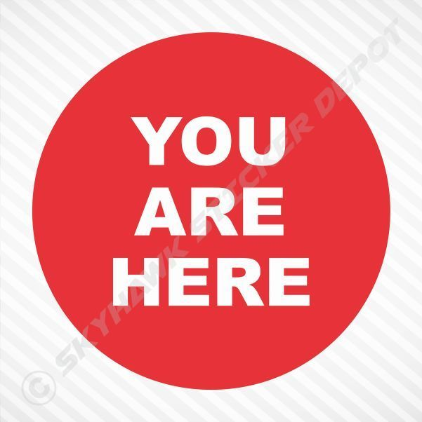 You Are Here Funny Bumper Sticker Vinyl Decal Prank Car Motorcycle Macbook Decal #3M