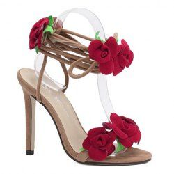 SHARE & Get it FREE | Stylish Lace-Up and Flowers Design Sandals For WomenFor Fashion Lovers only:80,000+ Items • FREE SHIPPING Join Nastydress: Get YOUR $50 NOW!