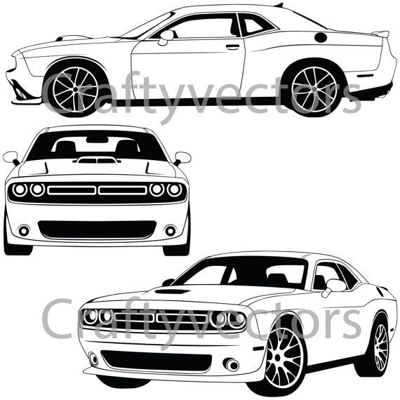 Dodge Challenger 2015 Vector File Products Pinterest Dodge