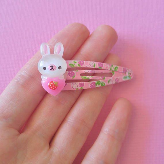 White Bunny Hair Clip Cute Rabbit Hair Clips Easter Hair Clip Kawaii Cute Spring Hair Clips Kawaii Fairy Kei Hair Clips Girl Clips Kawaii Hair Clips