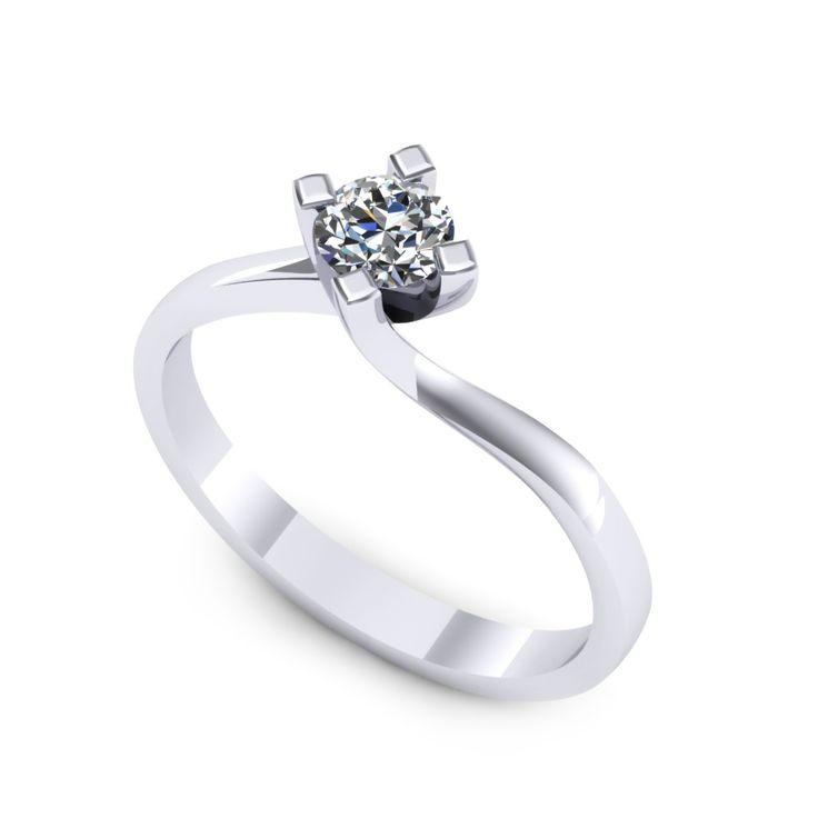 Inel logodna F29ADI * Piatra principala: 1 x diamant, dimensiune: ~4.00mm, greutate: 0.25ct