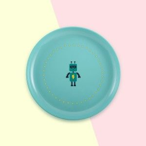 assiette robot - kid plate buy me on www.superpetit.com