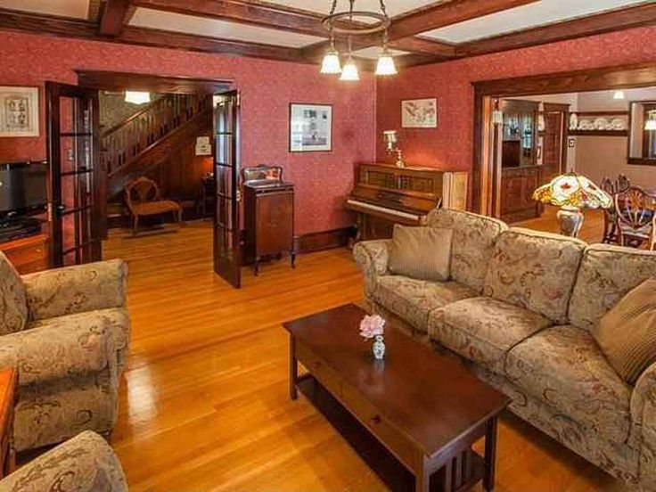 1910 Craftsman House, Spokane, WA – Living room with muted ...