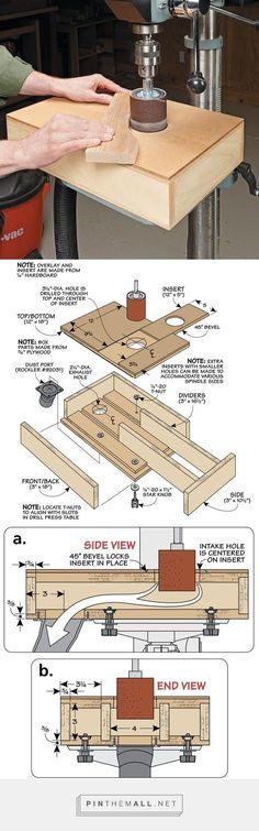 Dust-Free Sanding Table   Woodsmith Tips - created via http://pinthemall.net   Woodworking shop   Pinterest