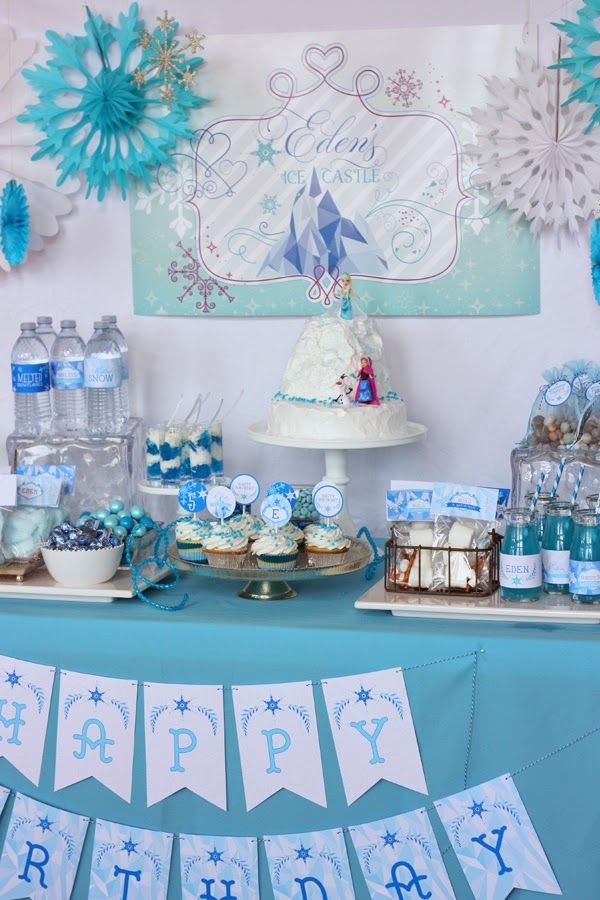 frozen party printables and ideas for a winter party