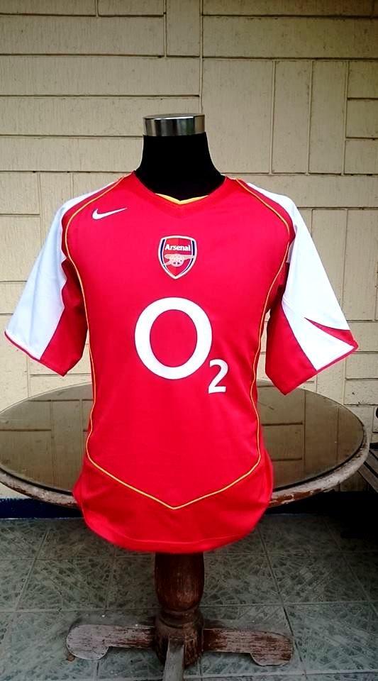 359e608e1bb ENGLISH PREMIER ARSENAL FC 2004-05 FA COMMUNITY SHIELD   FA CUP CHAMPION  JERSEY NIKE SHIRT MEDIUM