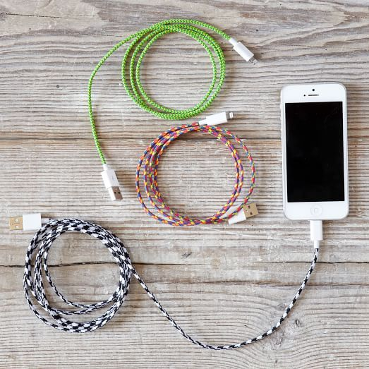 Fabric-Wrapped Charging Cable | west elm